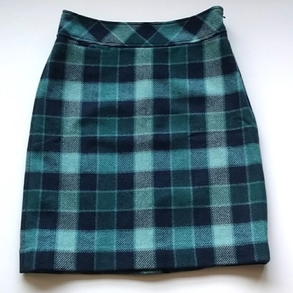 74ad1bb97c L.L. Bean Skirts | Ll Bean Fav Fit Wool Plaid Pencil Skirt 6 | Poshmark